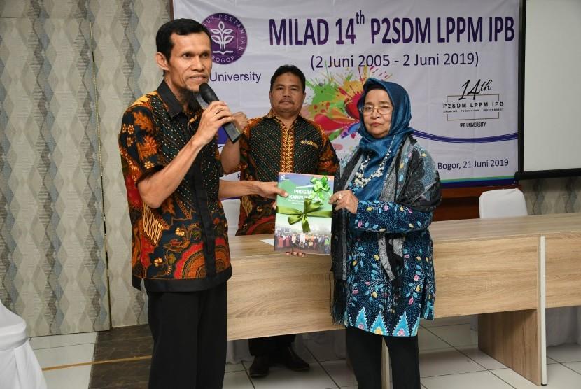Suasana HUT ke-14 Pusat Pengembangan Sumberdaya Manusia (P2SDM) Lembaga Penelitian dan Pengabdian kepada Masyarakat (LPPM) IPB University.