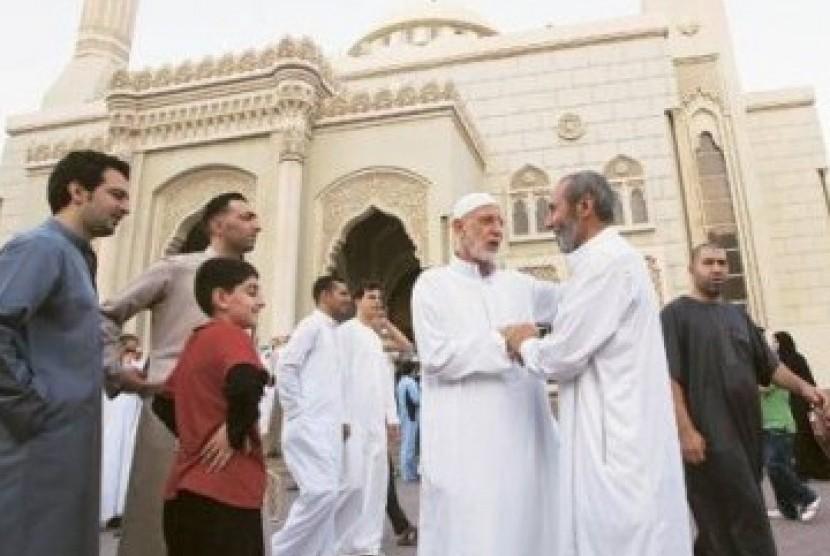 Suasana Idul Fitri di Uni Emirat Arab.