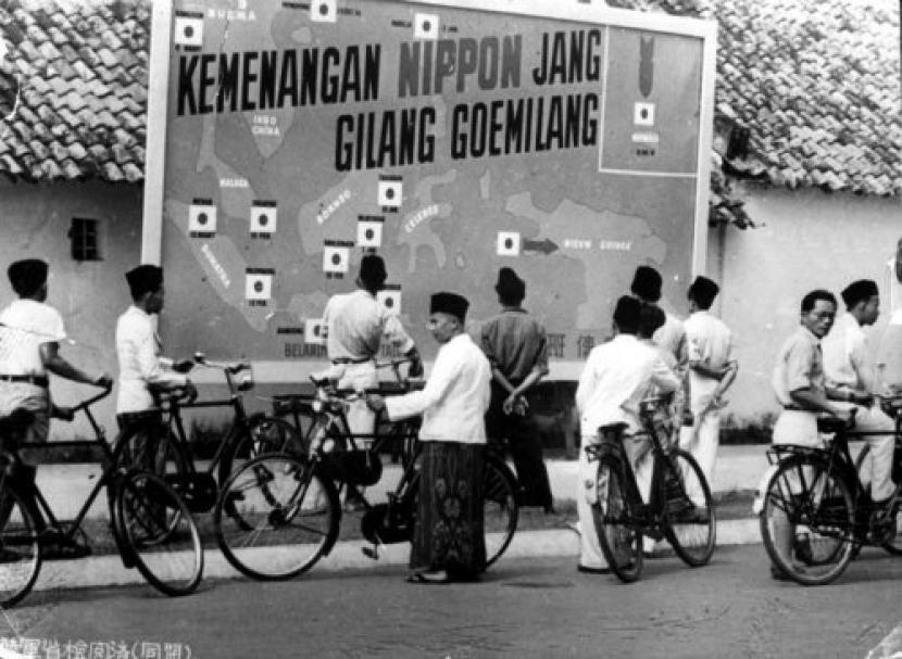 Suasana Jakarta pada zaman Jepang.