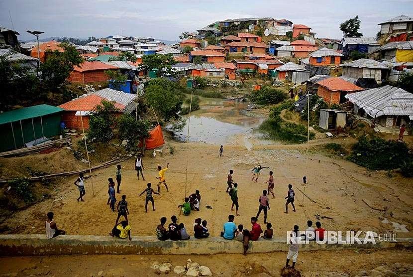 Suasana kamp pengungsi Rohingya Balukhali, Bangladesh,
