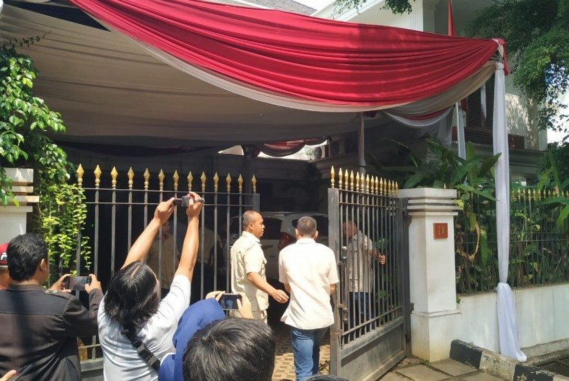 Suasana kediaman Prabowo Subianto, Rabu (22/5).