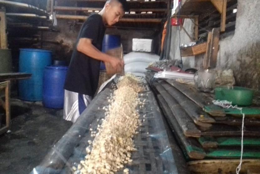 Tempe factory at Kali Sentiong, Serdang, Kemayoran, Jakarta.