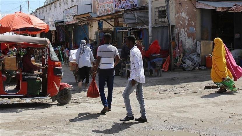 Suasana keseharian di Somalia Tengah.