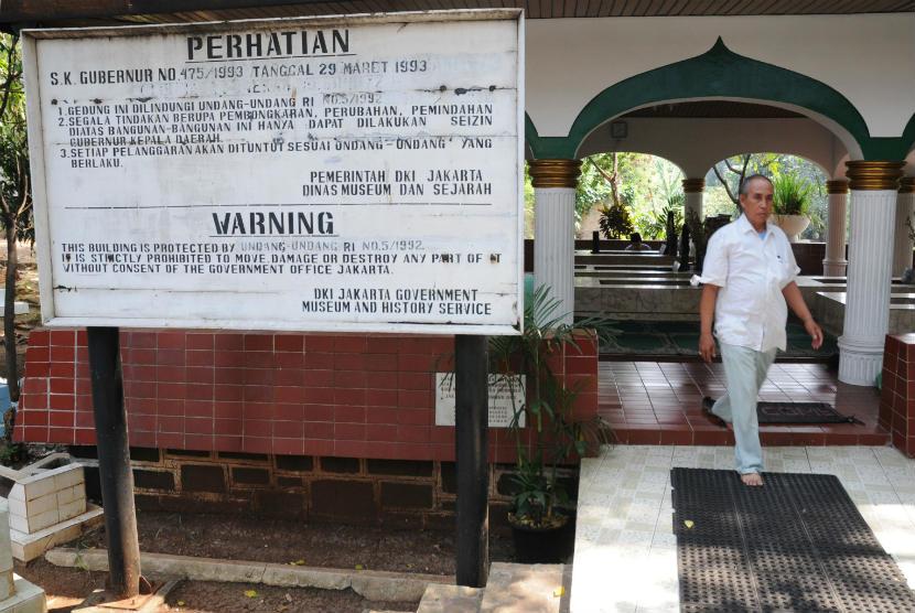 Makam Pangeran Jayakarta, Jalan Jatinegara Kaum, Jakarta Timur, Senin (30/7). (Aditya Pradana Putra/Republika)