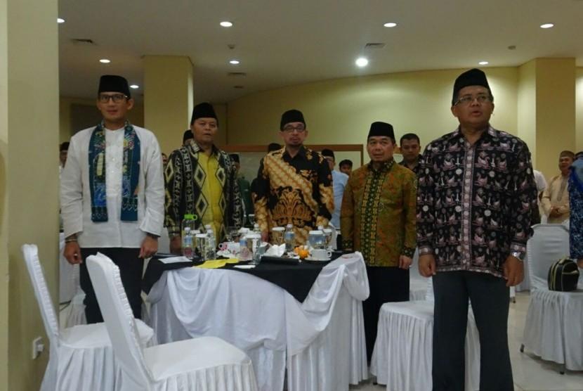 Suasana konsolidasi anggota legislatif PKS seluruh Indonesia di Hotel Sahid, Jakarta.
