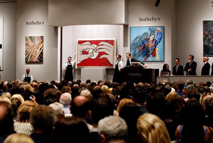 Suasana lelang di Sotheby (ilustrasi)