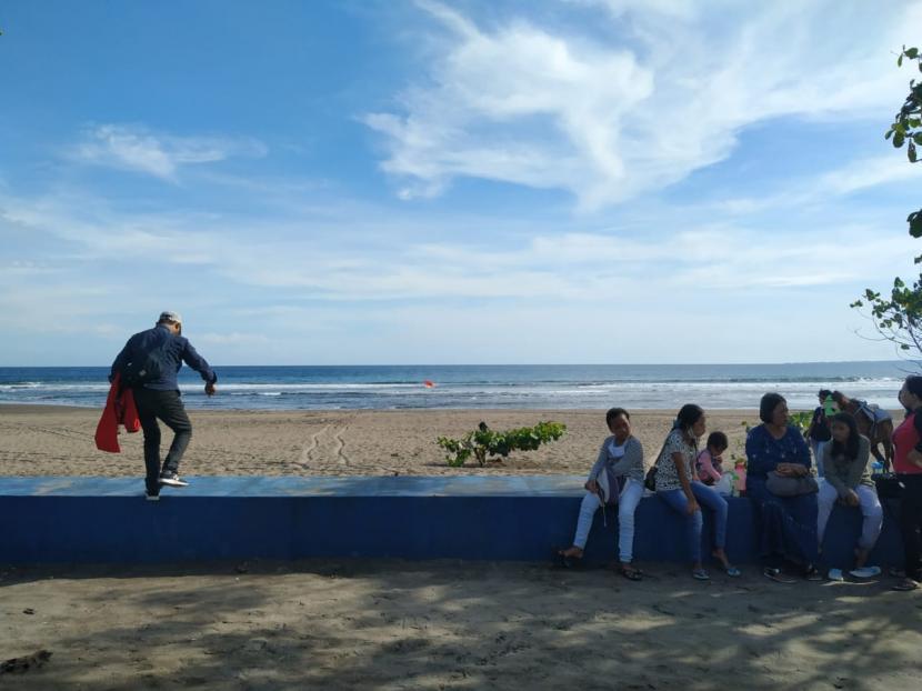 Suasana Pantai Barat Pangandaran (ilustrasi)
