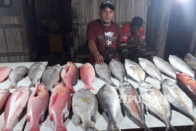 Suasana pasar ikan segar (ilustrasi)