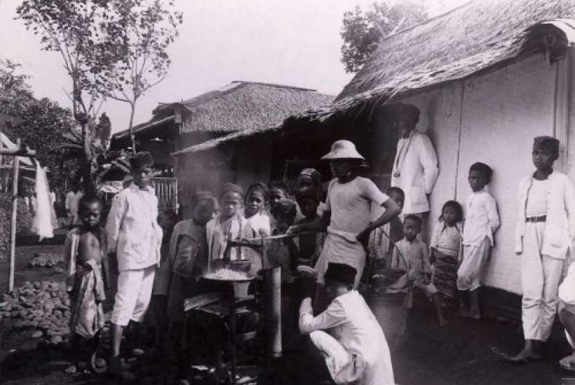 Suasana pedesaan pedalaman Jawa 1910.