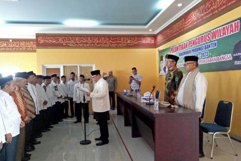 Suasana pelantikan pengurus Bakomubin Provinsi Banten.
