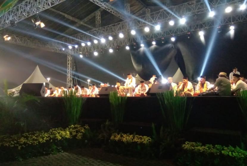 Suasana pembukaan Lebaran Betawi ke 12, Jumat (19/7). Lebaran Betawi akan digelar hingga Ahad, 21 Juli 2019.