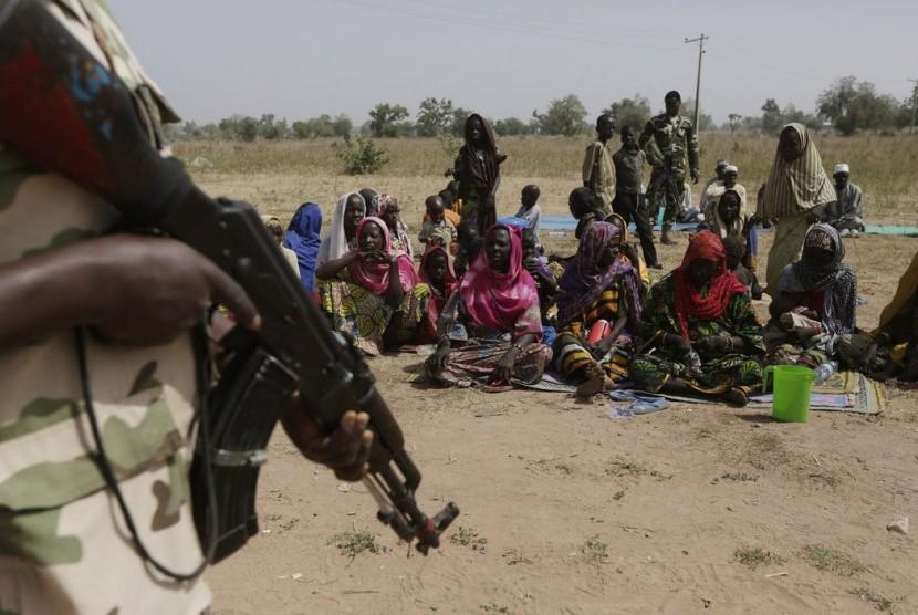 Suasana perang sipil di Afrika.