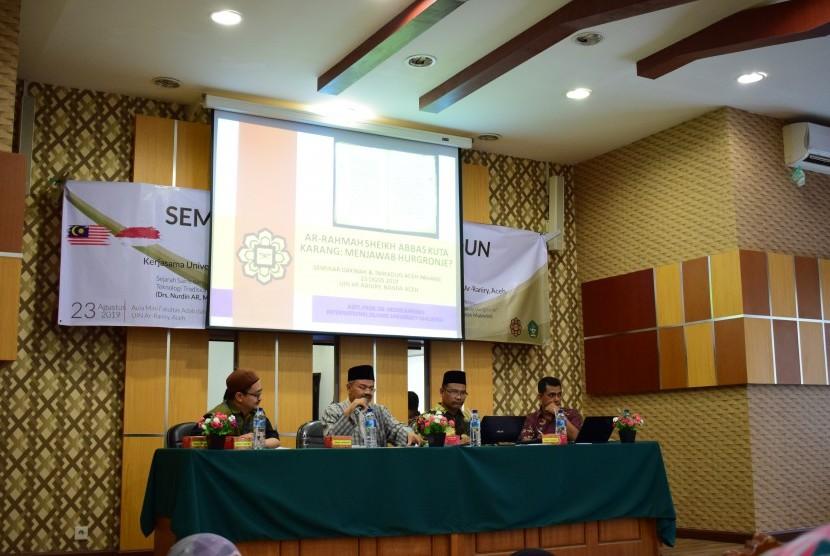 Suasana Seminar Dakwah dan Tamaddun Aceh-Pahang yang digelar oleh UIN Ar-Raniry dan Universiti Islam Antarabangsa Malaysia (UIAM) Kuantan Pahang.