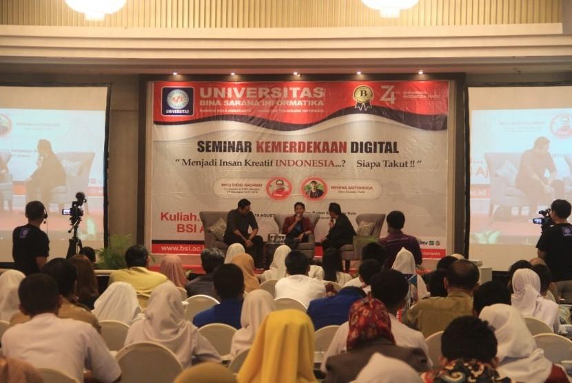 Suasana seminar kemerdekaan digital yang diadakan oleh UBSI Kampus Solo.