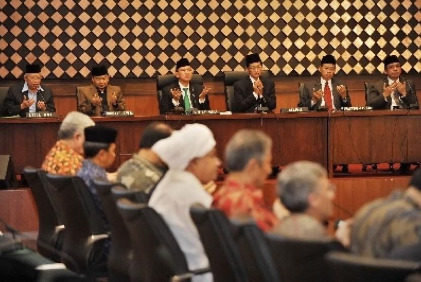 Suasana sidang itsbat di kantor Kementerian Agama, Jakarta.