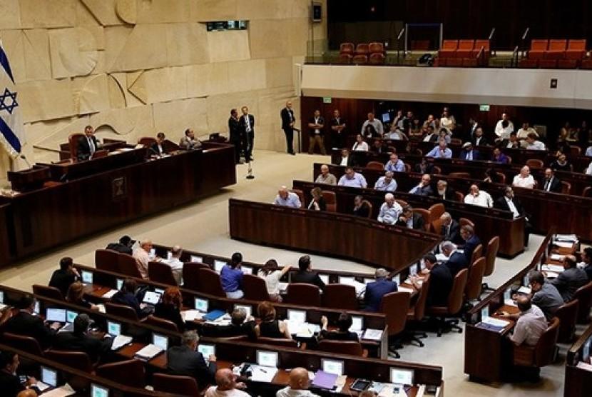 Suasana sidang parlemen Israel (Knesset).