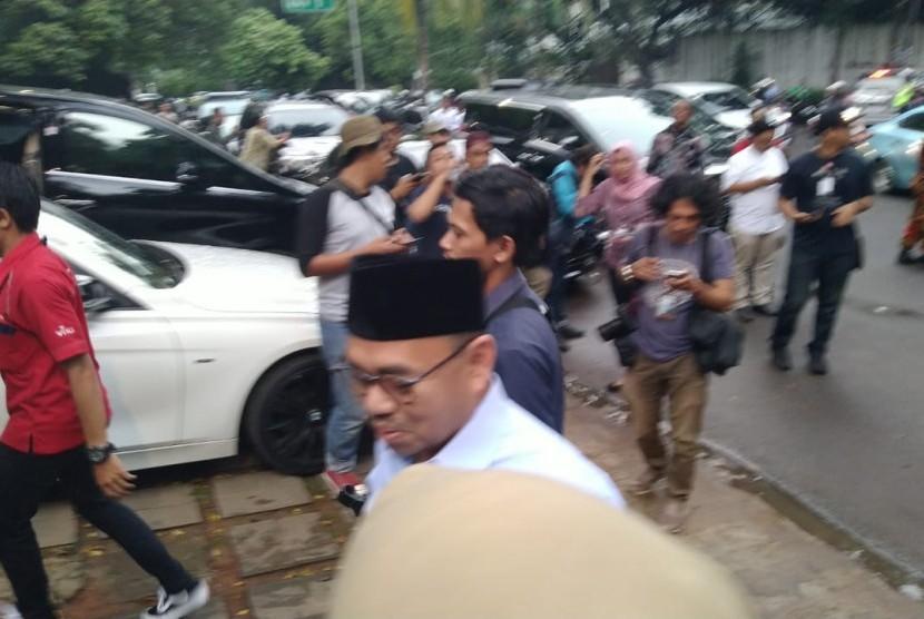 Sudirman Said tiba di Kediaman Prabowo Subianto, Kamis (17/1).