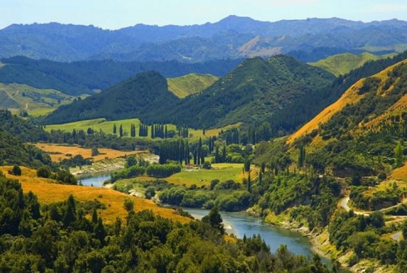 Sungai Whanganui di Selandia Baru.