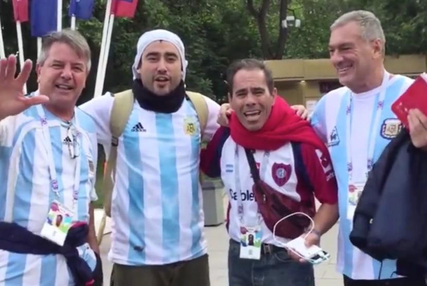 Suporter timnas Argentina di Rusia