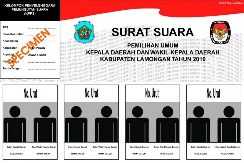 Format Surat Suara Pemilu 2014 Dibuat Tiga Baris Republika