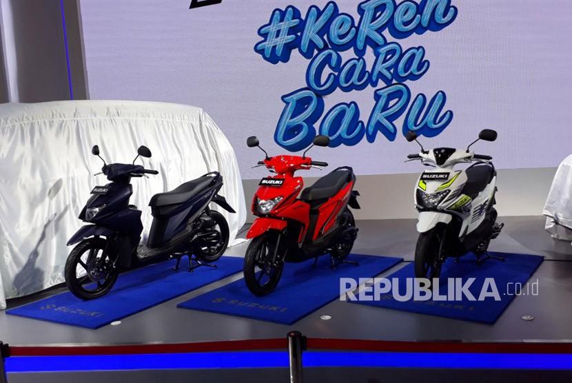 Suzuki lndomobil Sales (SIS) memperkenalkan produk terbaru, Suzuki Nex ll, di ajang Indonesia International Motor Show (IIMS) 2018 Jakarta, Senin (23/4).