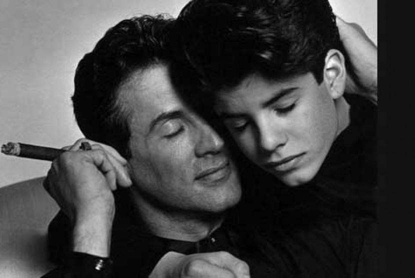 Sylvester Stallone dan putranya