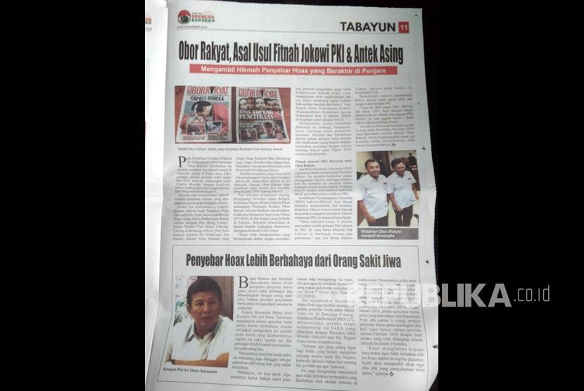 Tabloid Indonesia Barokah Tersebar di 104 Mesjid di Kab Bandung.