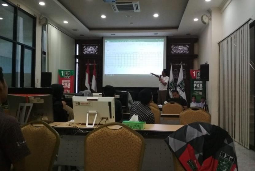 Tabulasi suara Pemilu 2019 di Kantor DPP PKB.