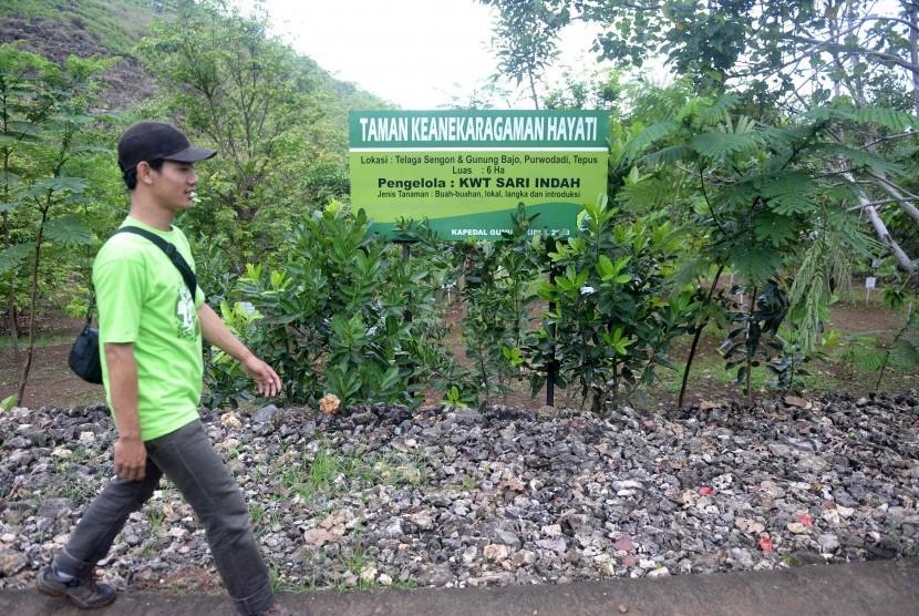 Taman Keanekaragaman Hayati (Kehati) Indah Sari, Tepus, Gunung Kidul, Yogyakarta.