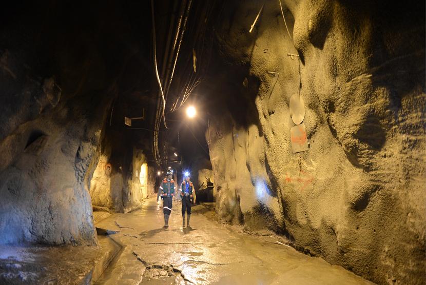 Tambang bawah tanah PT Freeport