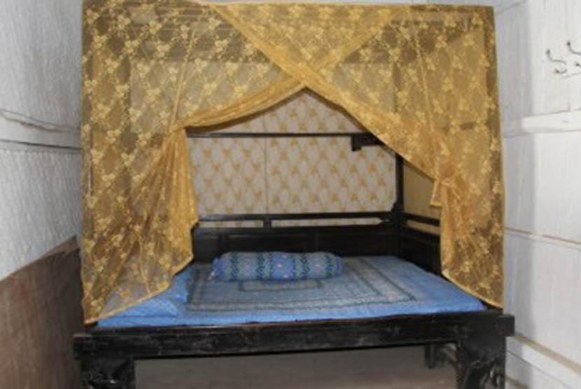Tampak ruang tidur Bung Hatta. (Republika Online/fafa)