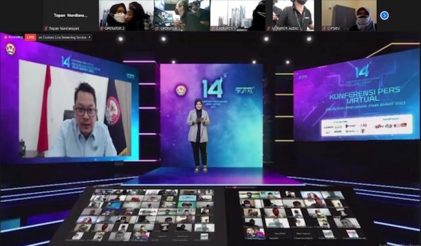 Tangkapan layar konferensi pers Anugerah Penyiaran 2021 KPID Jawa Barat.