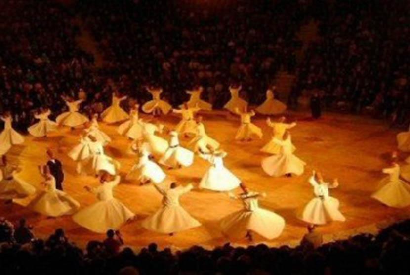 Tarian Sufi (ilustrasi).
