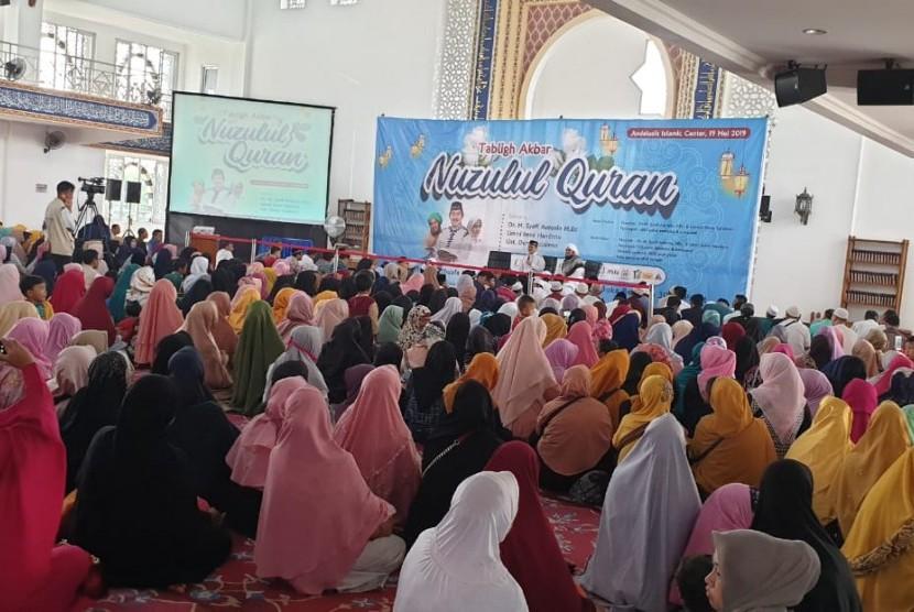 Tazkia Grup mengadakan tabligh Akbar Nuzulul Quran. Tabligh akbar ini dilaksanakan di Masjid Andalusia Islamic Center STEI TAZKIA., Ahad (19/5).