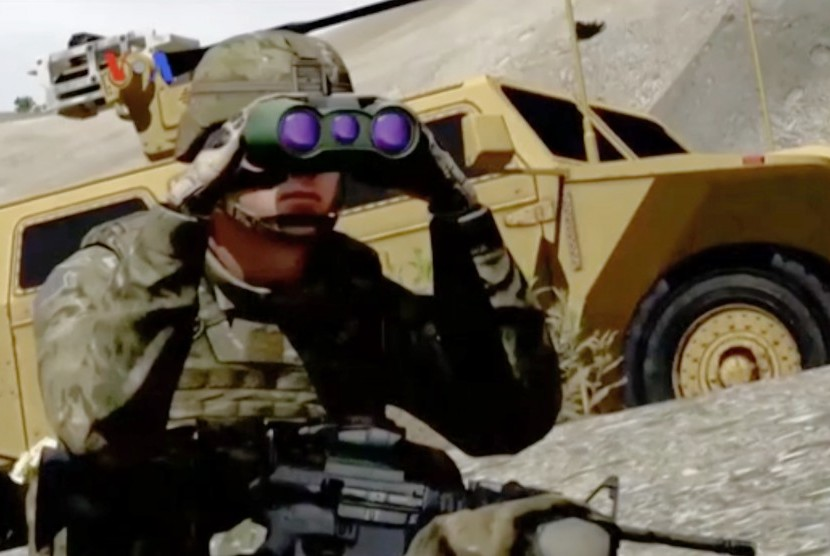 Teknologi 3D untuk pelatihan militer virtual (ilustrasi)