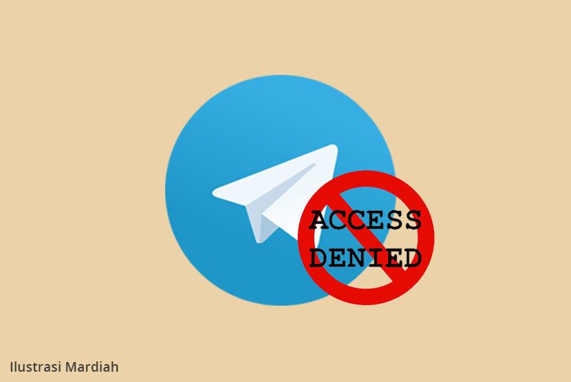 Telegram diblokir (ilustrasi)