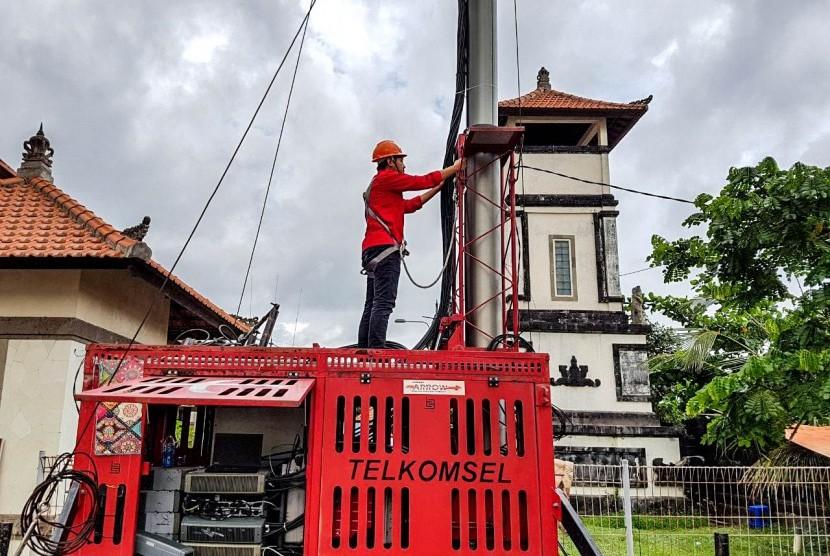 Telkomsel Tambah Delapan BTS di Wilayah Gunung Agung