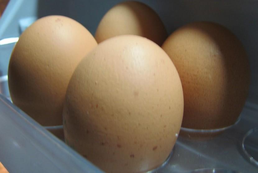Telur di dalam kulkas.