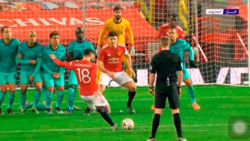 Video: Gol Sadis Bruno Bawa MU Tumpas Liverpool 3-2