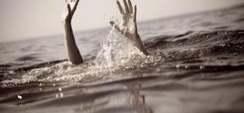Tenggelam di laut (ilustrasi)