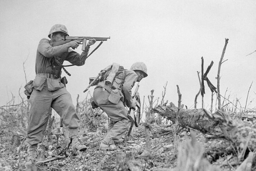 Tentara AS saat Perang Dunia II (ilustrasi).