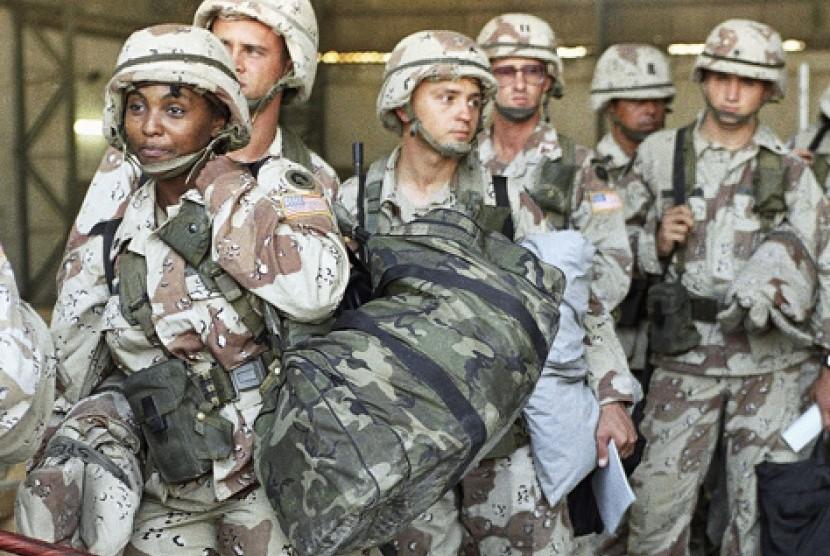 Tentara AS yang pulang dari Somalia. (ilustrasi)