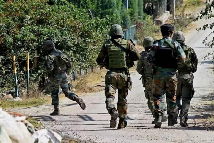 Tentara India di Kashmir (Ilustrasi)
