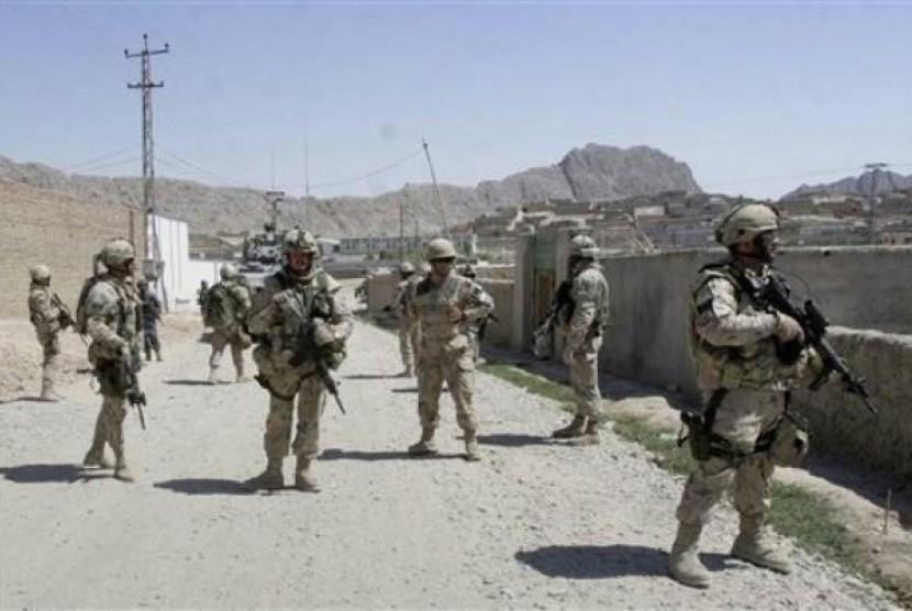 Tentara ISAF di Afghanistan.