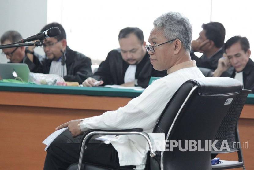 Terdakwa kasus pelanggaran Undang-Undang Informasi Transaksi Elektronik (ITE) Buni Yani.