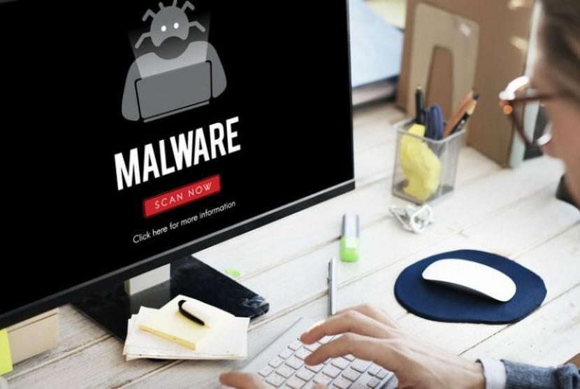 Terinfeksi Malware. Ilustrasi