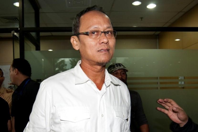 Tersangka kasus Hambalang, Dedy Kusdinar, di KPK.