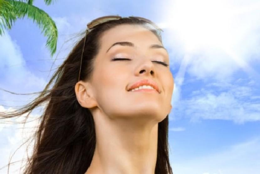 tetap cantik di bawah sinar matahari