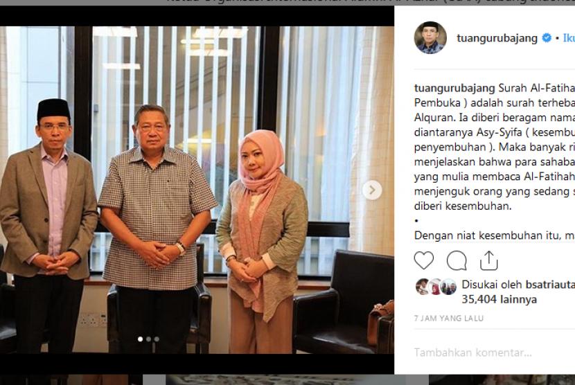 TGB Jenguk Ani Yudhoyono
