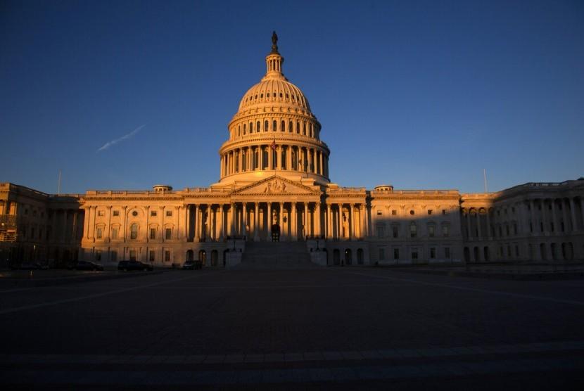The Capitol di Washington, Amerika Serikat. Pada Sabtu (12/1), shutdown beberapa instansi pemerintahan memasuki hari ke-22.